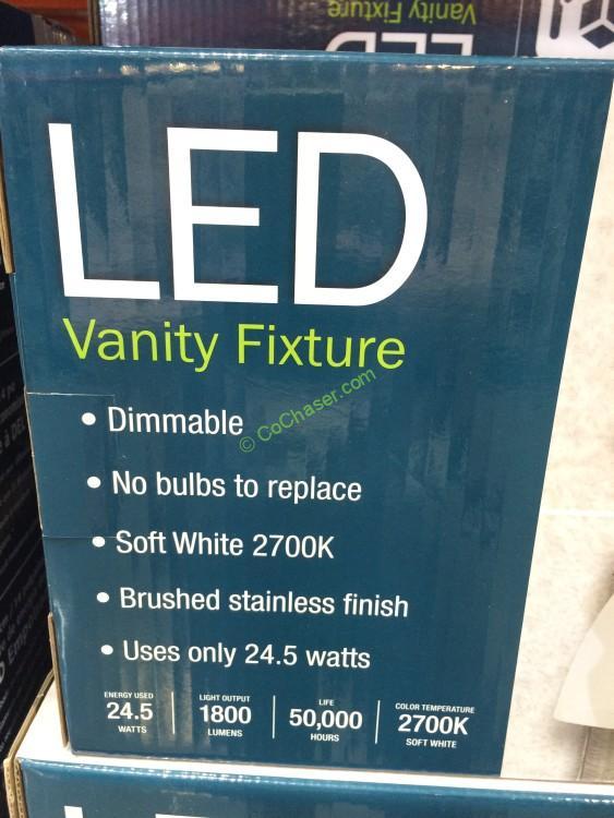 Costco 1052286 3 Light Bath Vanity Integrated Led