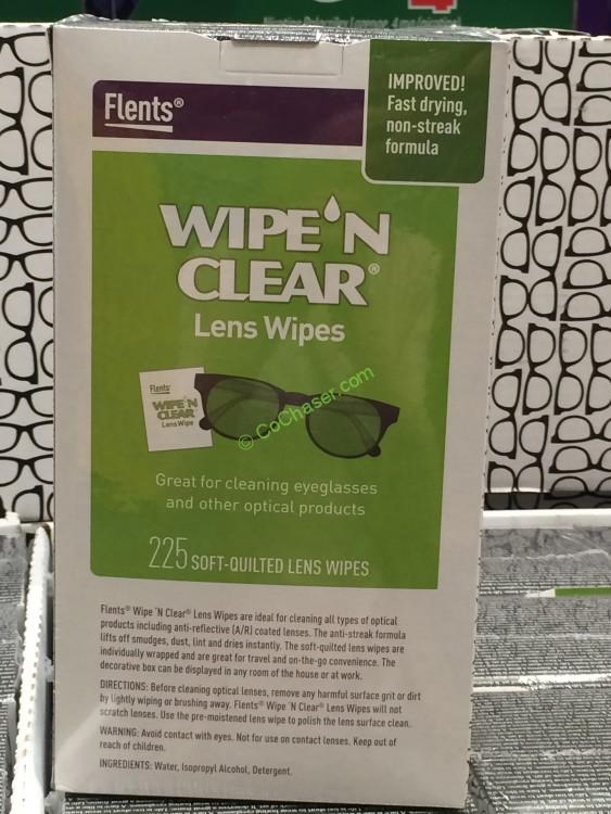 Flents Wipe N Clear Lens Wipes Biodegradable , 225 Count