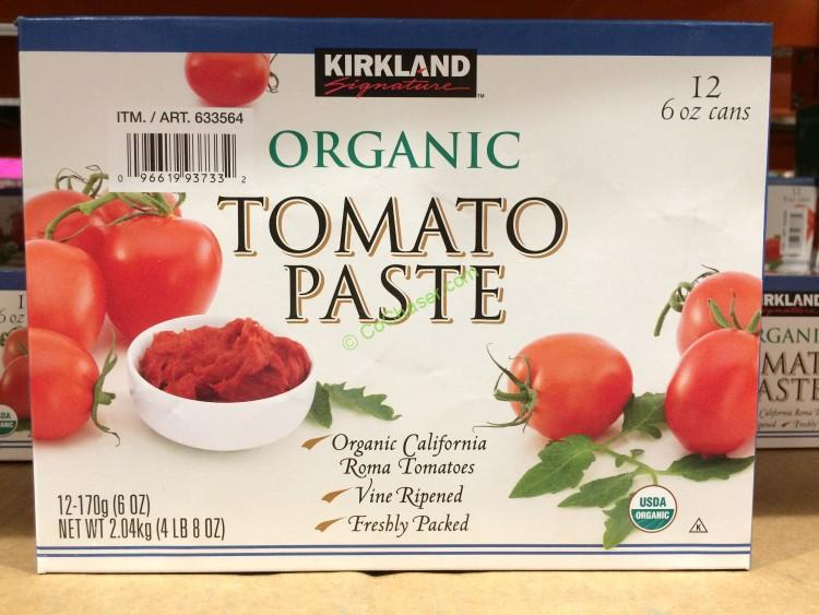 Kirkland Signature Organic Tomato Paste 12/6 Ounce Cans