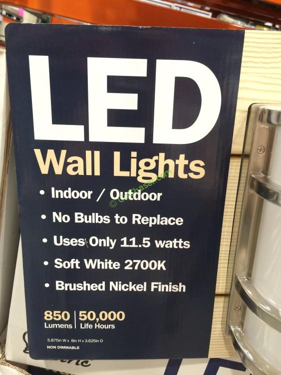 Costco Feit Led Patio Lights: Feit Electric LED Wall Sconce Indoor/Outdoor 2 PACK