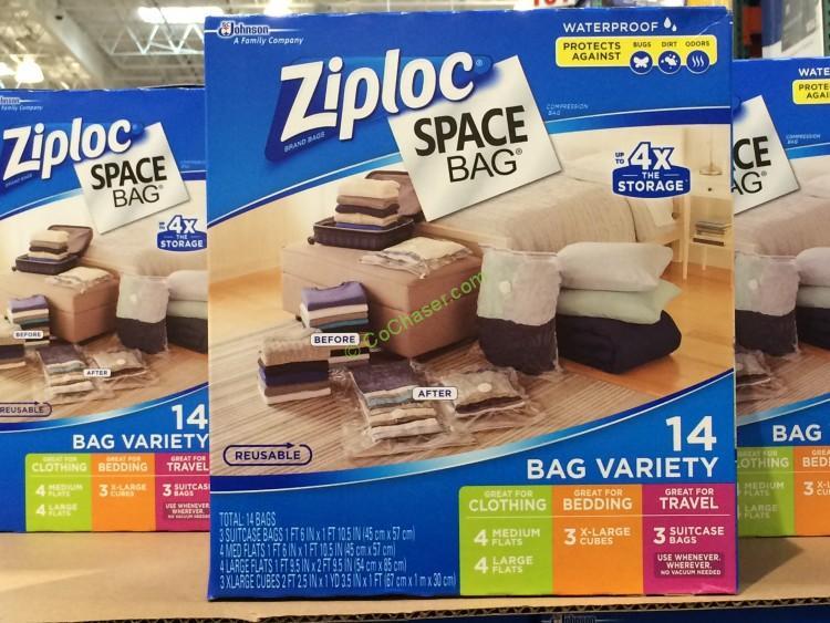 Ziploc Space Bag 14PC 4-Med, 4_Lrg, 3-XL Cube, 3-Trvl