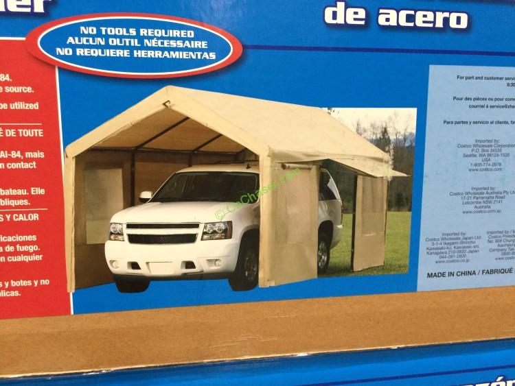 Costco 781893 Canopy Steel Frame Tan Cover With Side Wall
