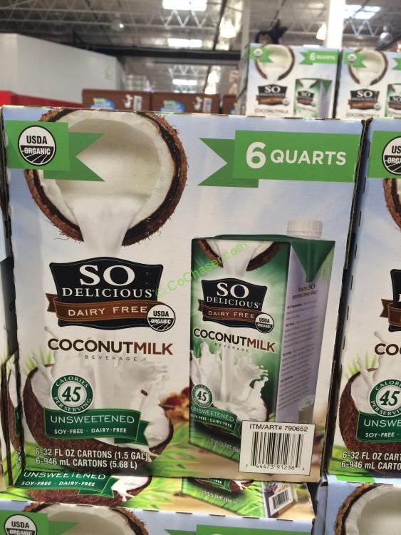 So Delicious Organic Coconut Milk 6/32 Ounce Boxes