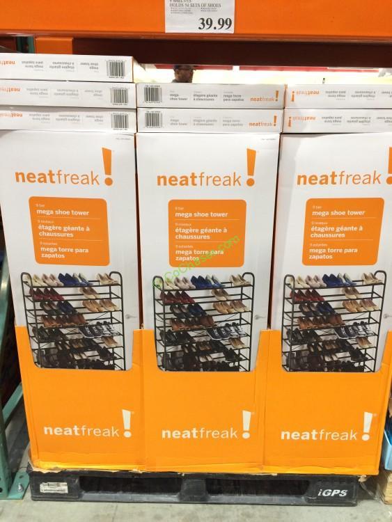 Neatfreak Mega Shoe Tower 9 Shelves Holds 54 Sets Of Shoes