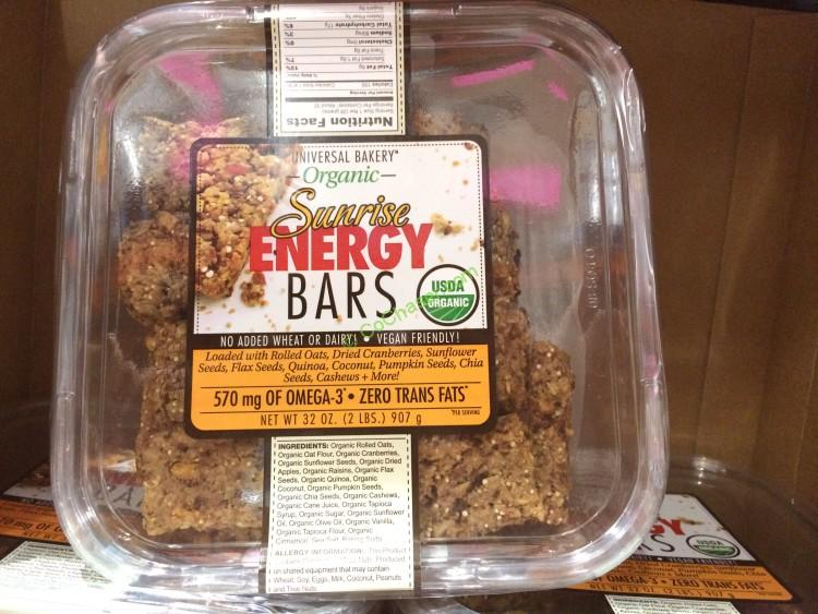 Universal Bakery Organic Sunrise Bars 32 Ounce Container