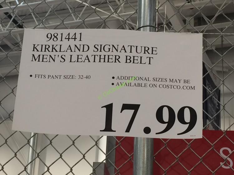 672b0d3b7c1 Kirkland Signature Men's Italian Leather Belt – CostcoChaser