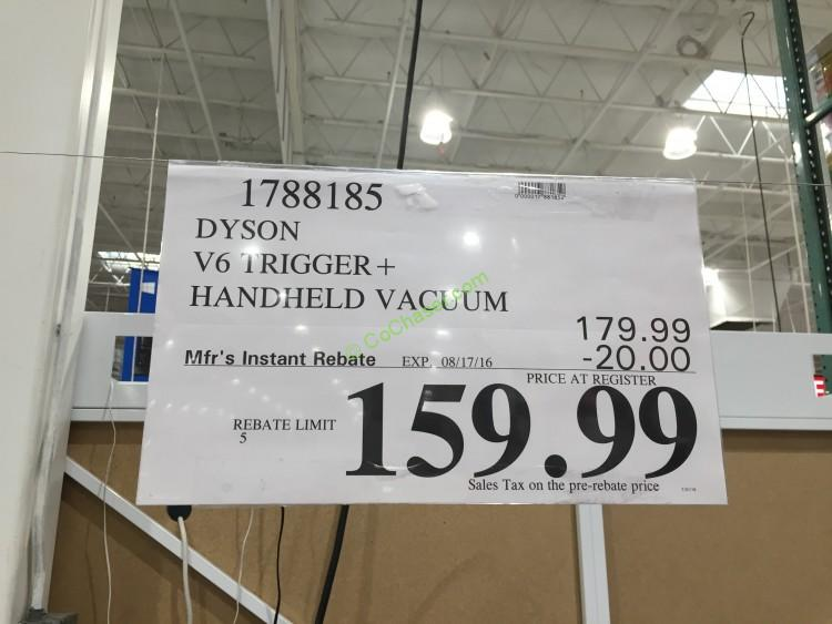 Costco 1788185 Dyson V6 Trigger Handheld Vacuum Price