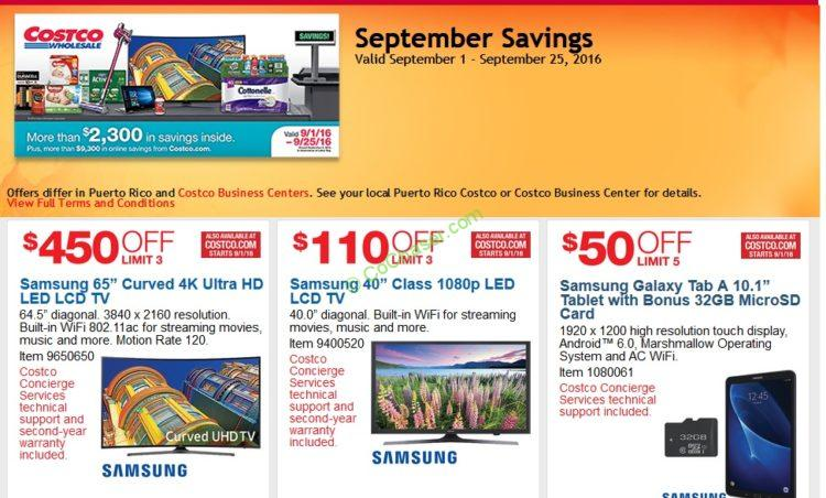 Costco Coupon Book: Sep. 1 – Sep. 25, 2016