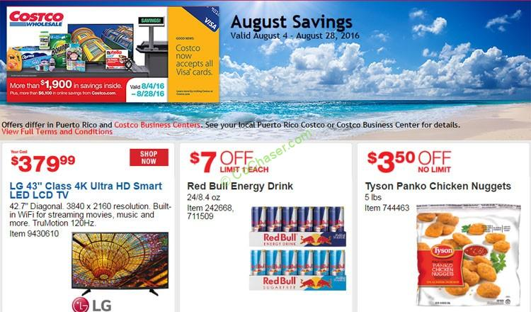 Costco Coupon Book: Aug 4 – Aug 28, 2016