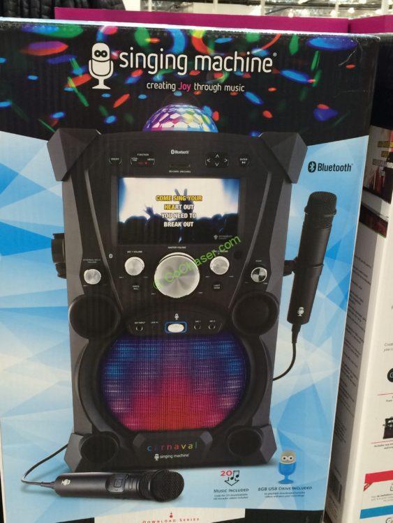 Costco-1009035-Singing-Machine-Portable-Karaoke-Machine-box