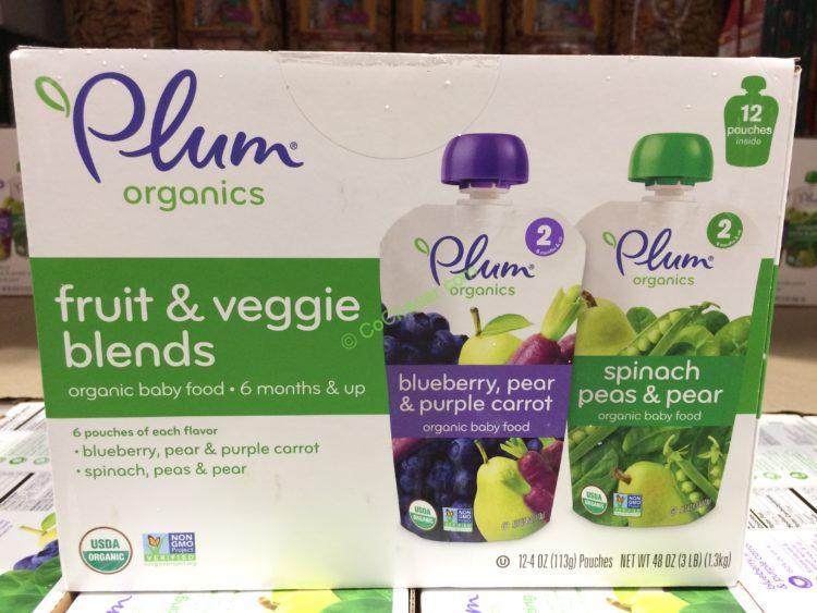 Plum organics Fruit & Veggie Pouches 12/4 Ounce Pouches