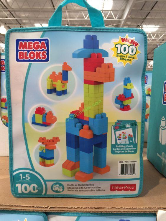 MEGA Blocks 100 Piece Set with Storage Bag