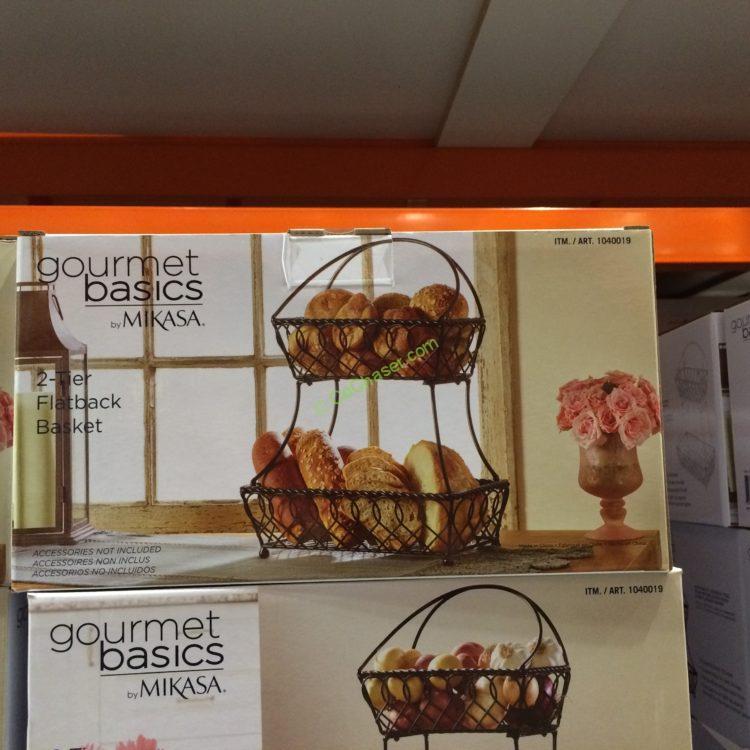 Costco-1040019-Gourmet-Basics-Mikasa-2Tier-Basket-Flatback-Loop-Lattice-box