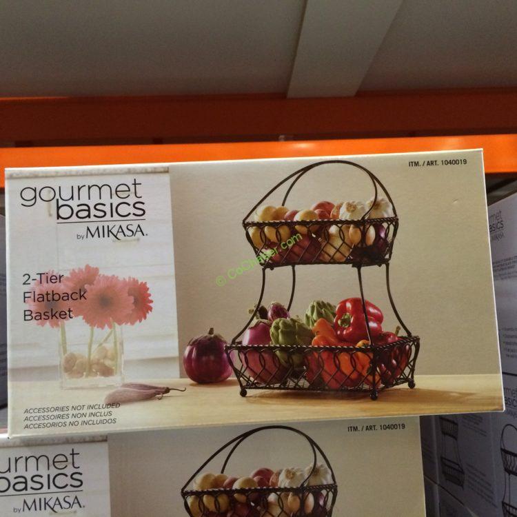 Costco-1040019-Gourmet-Basics-Mikasa-2Tier-Basket-Flatback-Loop-Lattice-pic