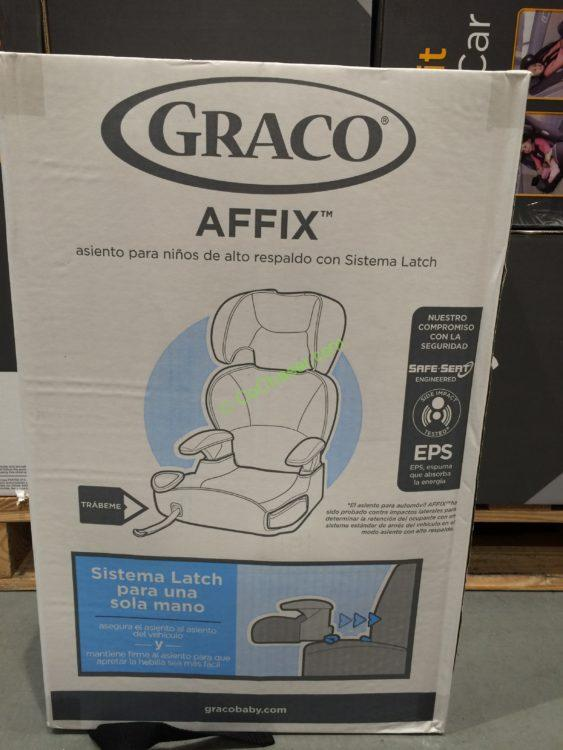 costco 1048897 graco baby products affix highback booster car seat box costcochaser. Black Bedroom Furniture Sets. Home Design Ideas
