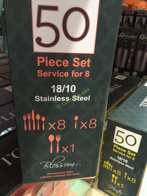 Towle 50pc Flatware 18 10 Hunter Blossom Costcochaser