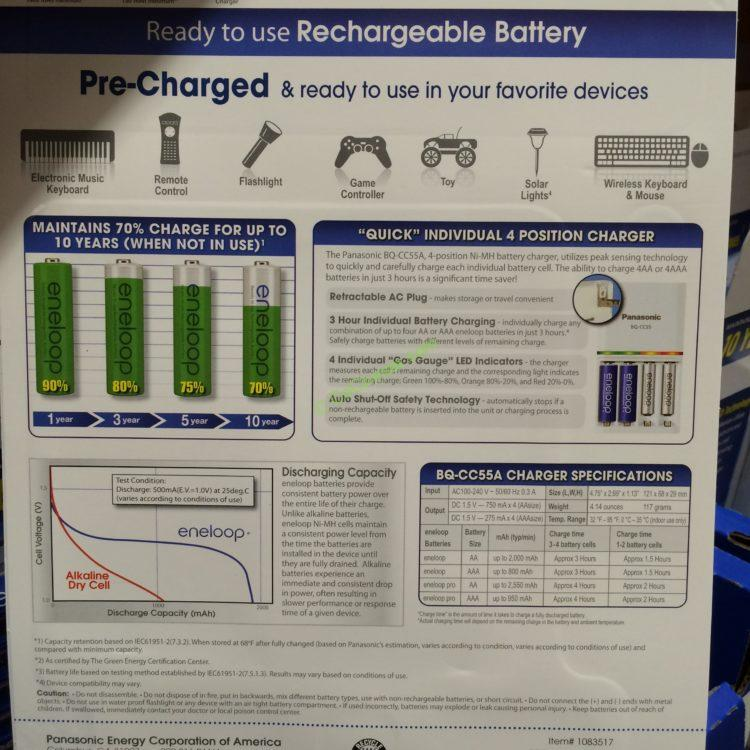 Panasonic Eneloop Rechargeable Battery Kit – CostcoChaser