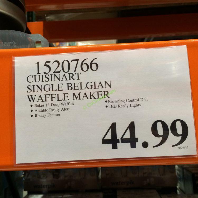 Cuisinart Single Belgian Waffle Maker Costcochaser