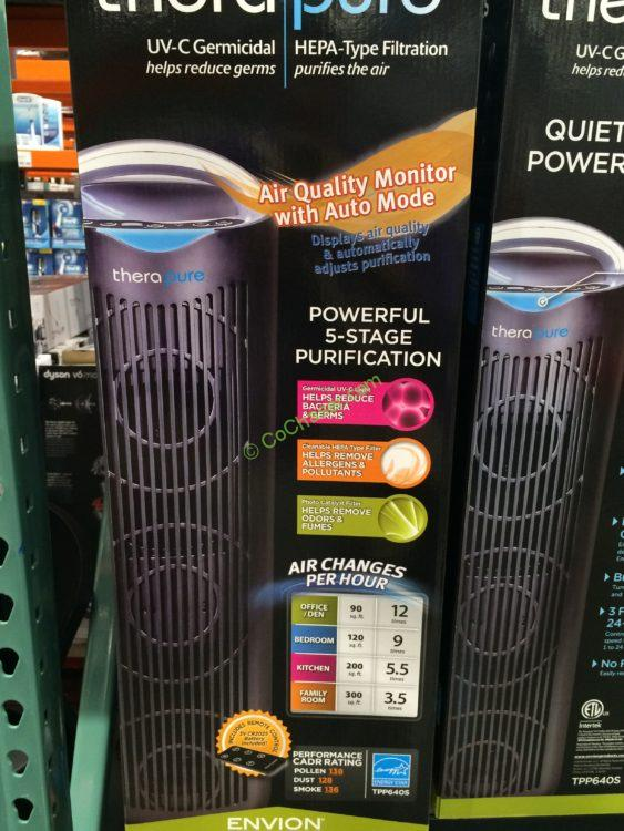 Costco Therapure Tower Air Purifier show2
