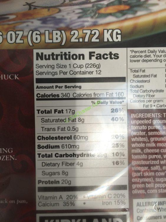 kirkland signature beef lasagna 6 pound tray  u2013 costcochaser