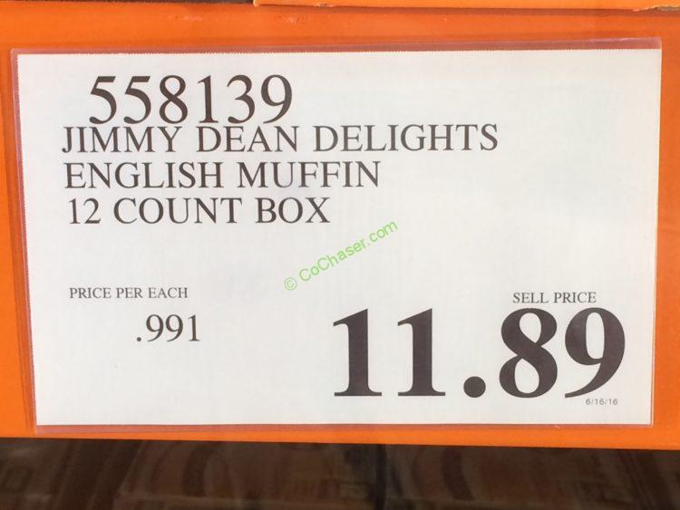 Costco-558139-Jimmy-Dean-Delights-English-Muffin-tag