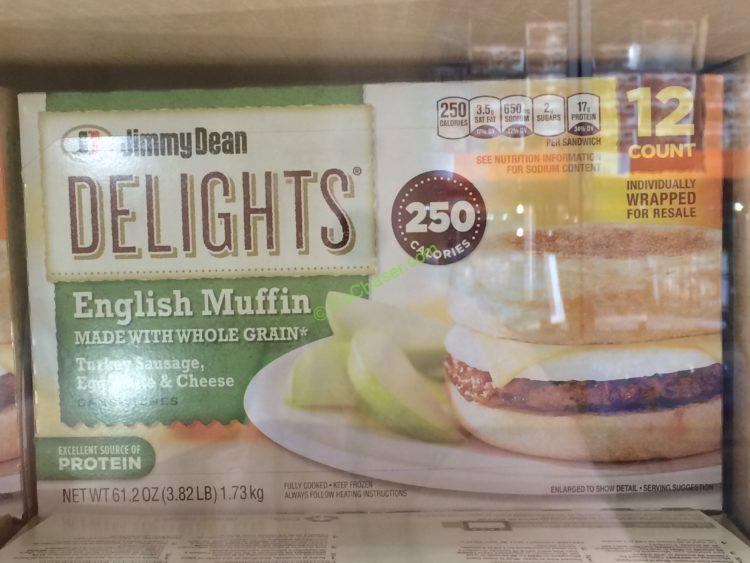 Jimmy Dean Delights English Muffin 12 Count Box