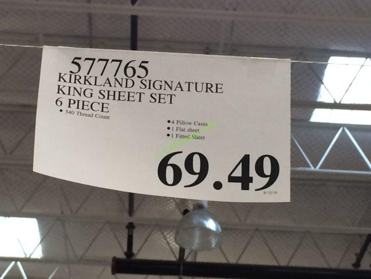 Costco-577765-Kirkland-Signature-Sheet-Set-King-tag