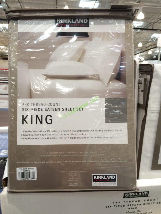 Kirkland Signature Sheet Set Queen Or King Costcochaser