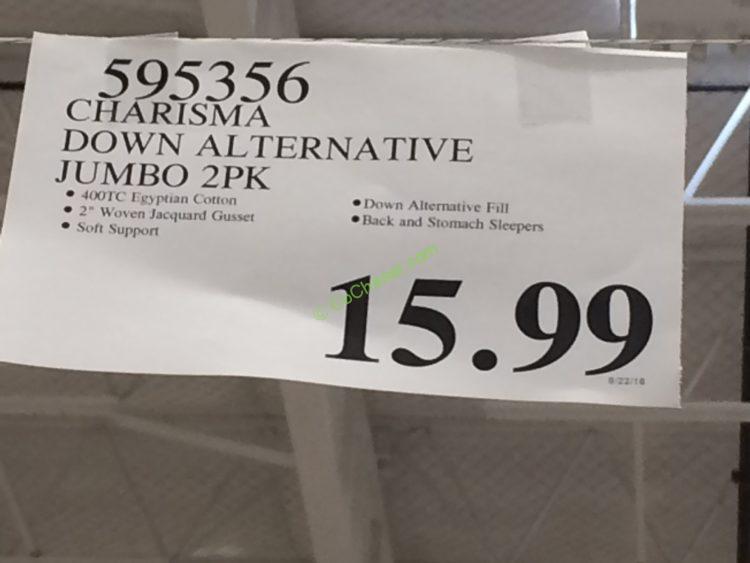 Charisma Down Alternative 2pk Jumbo Or King Costcochaser