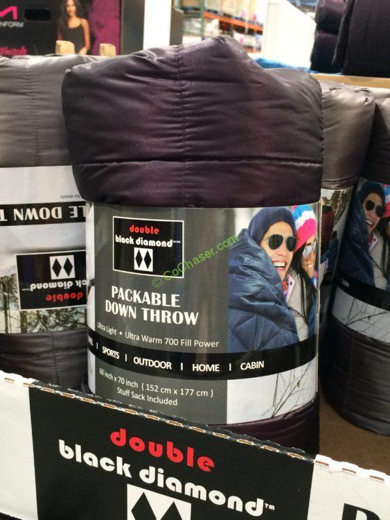 "Double Black Diamond Packable Down Throw 60"" x 70"""