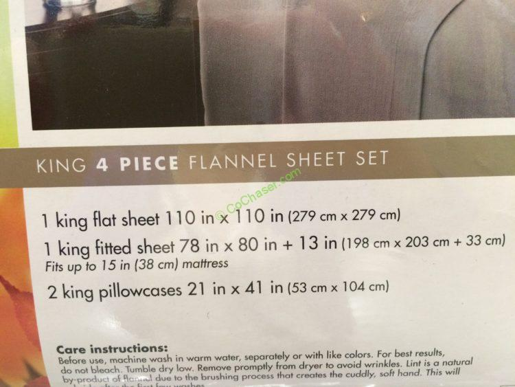 Flannel Sheet Set 4 Pieces Full Queen And King Costcochaser