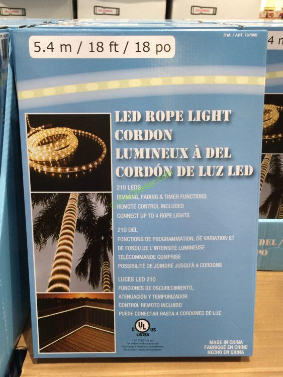 18 Ft Rope Light With Remove Control Warm White Costcochaser