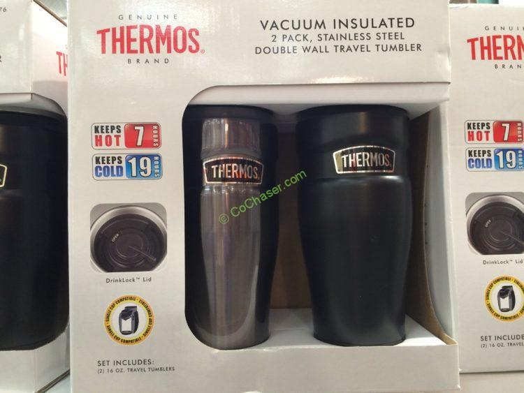 Costco 906876 Thermos Stainless King Thermal Mug Box