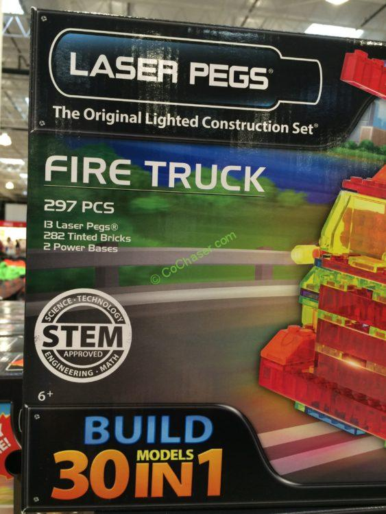 Costco-950142-Laser-Pegs-Fire-Truck-30-In-1-Building-Set-part