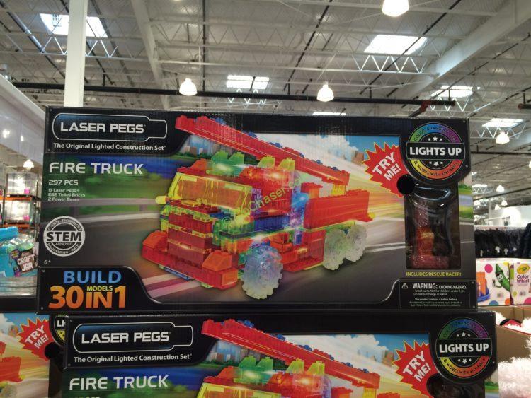 Costco-950142-Laser-Pegs-Fire-Truck-30-In-1-Building-Set