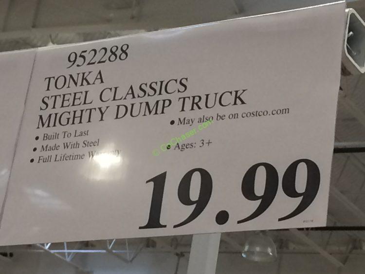 Costco-952288-Tonka-Steel-Classic-Mighty-Dump-Truck-tag