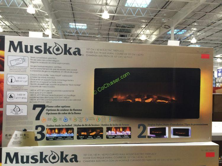 Costco 1049041 Muskoka 42 Curved Wall Mount Electric