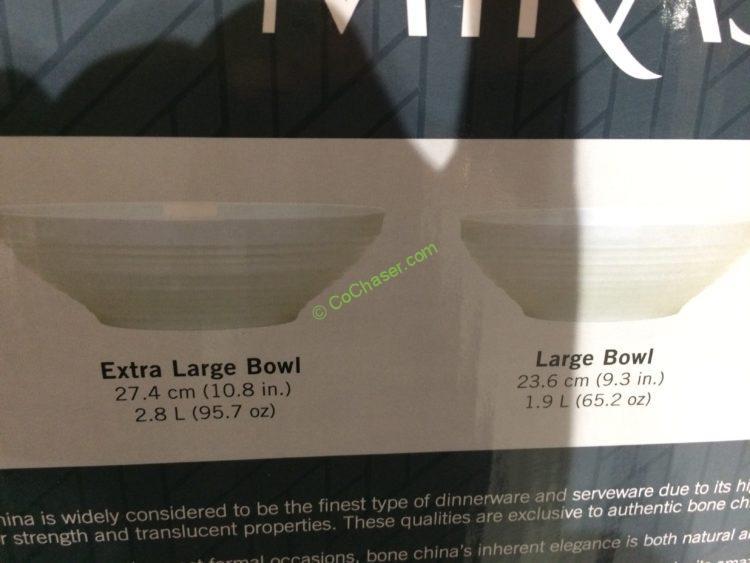 Mikasa Swirl 4pc Bowl Set Bone China Costcochaser