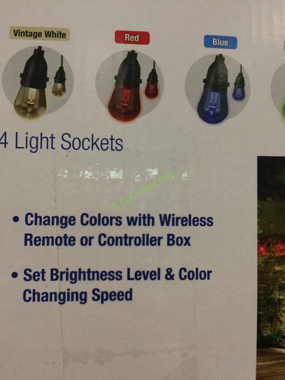 Feit Electric 48ft Led String Light Set Black Costcochaser