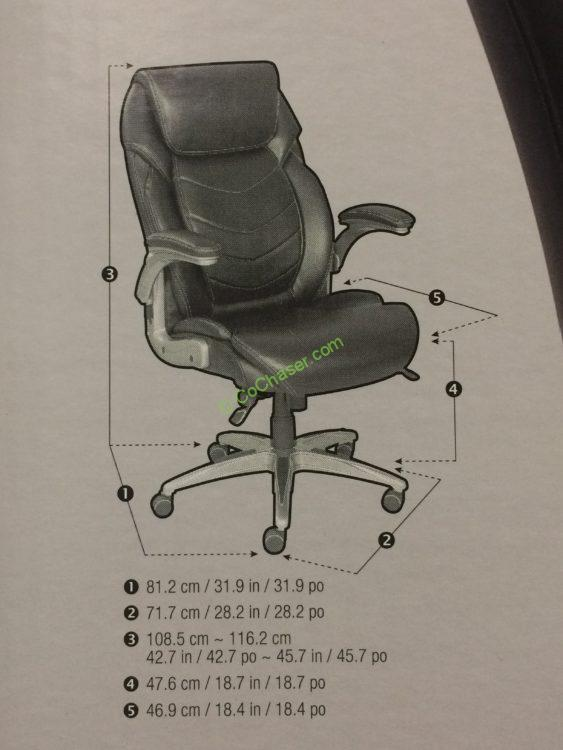 Costco-733288-True-Innovations-Active-Lumbar-Chair-size
