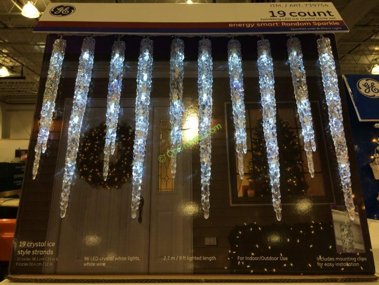 Ge 19 Count Twinkling Led Molded Icicle Lights Costcochaser