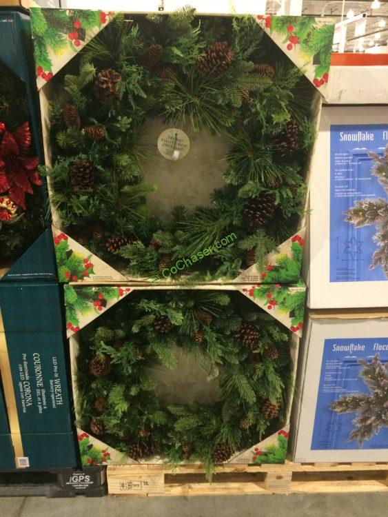 """32"""" Battery Operated LED Dual Color Wreath"""