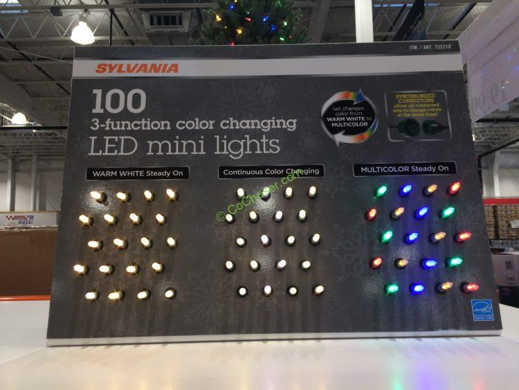 sylvania 100 count led color changing lights