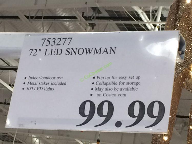 72 Led Snowman Costcochaser