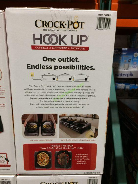 Costco 763183 Crock Pot Hook Up Connectable Entertaining System Inf1