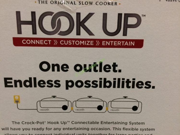 Costco 763183 Crock Pot Hook Up Connectable Entertaining System Name