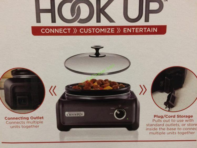 Costco 763183 Crock Pot Hook Up Connectable Entertaining System Part (2)