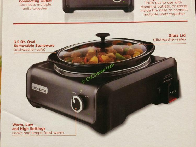 Costco 763183 Crock Pot Hook Up Connectable Entertaining System Part2