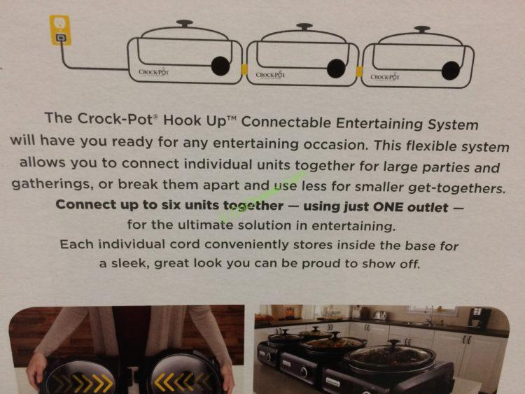 Costco 763183 Crock Pot Hook Up Connectable Entertaining System Spec1