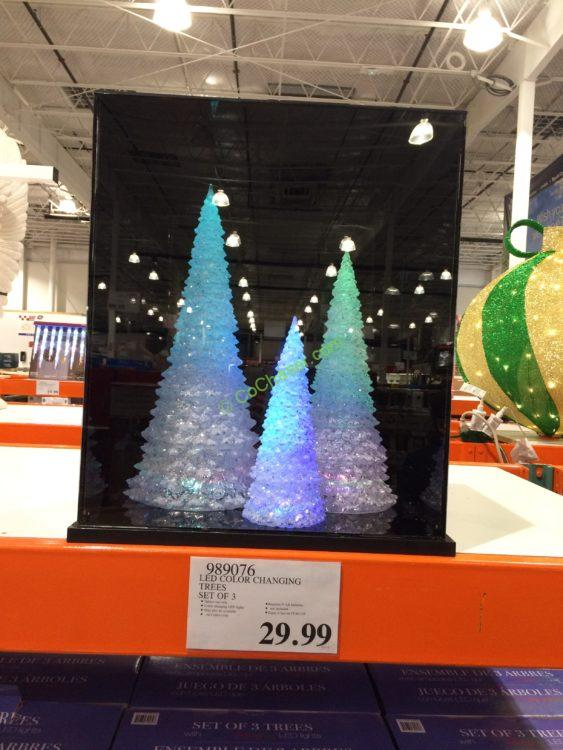 costco 989076 led color changing trees - Color Changing Led Christmas Tree